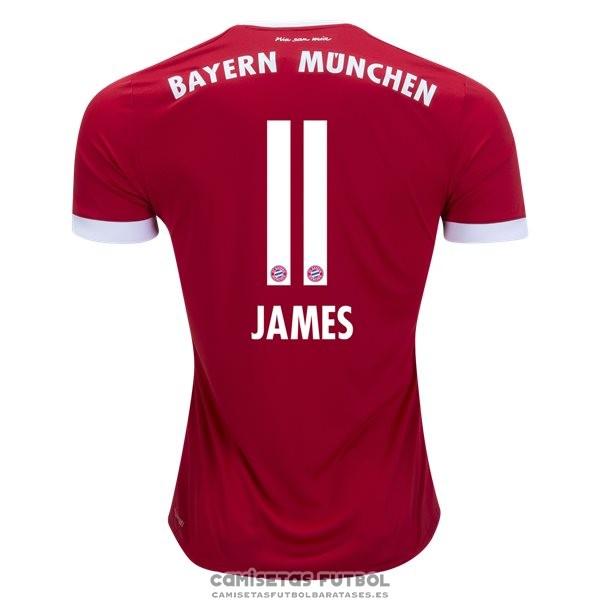 2aefd4a56716e Camiseta Bayern Munich Primera Jugador James Rodriguez Barata 2017-2018